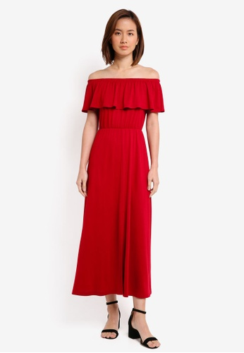 b399290c80e9 Shop ZALORA Off Shoulder Maxi Dress Online on ZALORA Philippines
