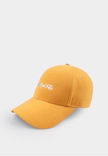 Penshoppe yellow Varsity Cap C3361ACAA4AB25GS_1