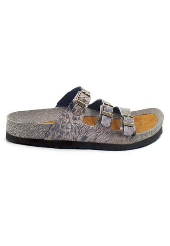 SoleSimple 多色 Ely - 豹紋銅色 百搭/搭帶 涼鞋 FBAF1SH0C56229GS_1