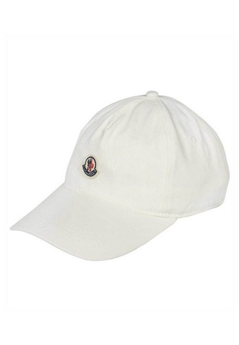 Moncler white Moncler Logo Patch Cap in White for UNISEX 3594DACD24A8B8GS_1