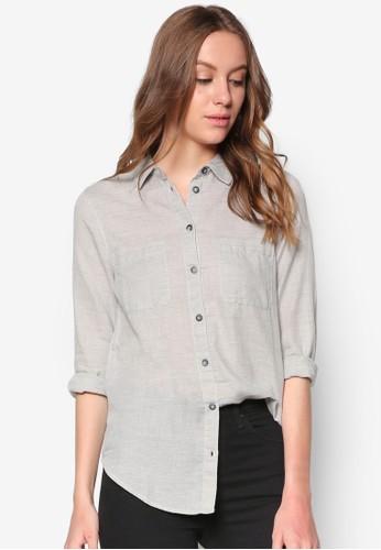 人字紋長topshop hk袖襯衫, 服飾, 襯衫