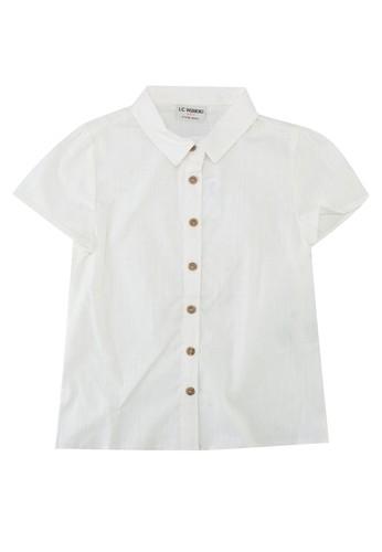 LC Waikiki beige Girl Poplin Shirt DA506KA37876C4GS_1