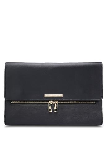 Dorothy Perkins black Black Double Zip Clutch Bag DO816AC0RJQGMY_1