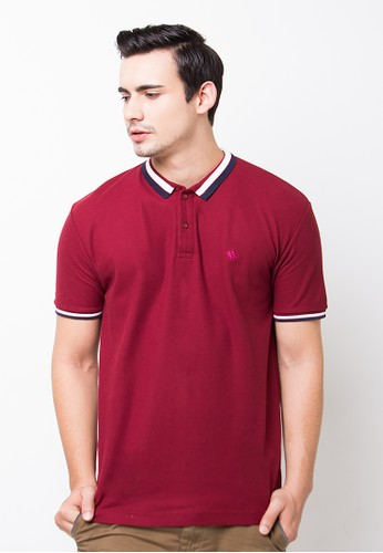 Bloop Polo Shirt E Diamound Wnv Maroon BLP-OG143