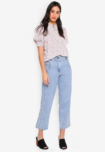 GHOSPELL white Toe-To-Toe Shirred Top 53255AA01E3EE1GS_1
