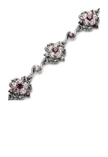 Glamorousky purple Antique Chain Bracelet with Purple Austrian Element Crystals 0A04FACF9C1D55GS_1