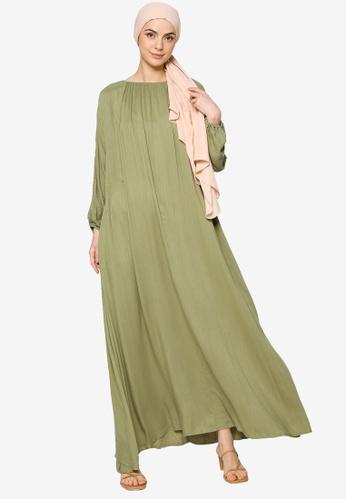 ZALIA BASICS green Lounge Maxi Dress C04EDAA473DB4CGS_1
