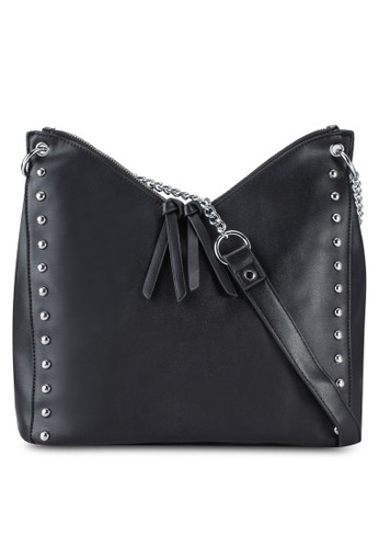 Something Borrowed Studded Hobo Shoulder Bag