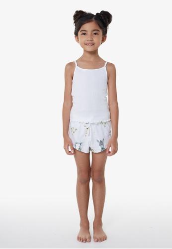 Gen Woo white Baby Cub PJ Set By Gen Woo 2C310KAD464976GS_1