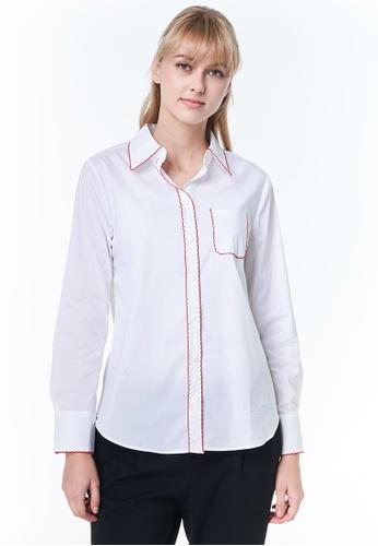 United Colors of Benetton white Italian Shirt Collar D91FEAA19F8660GS_1
