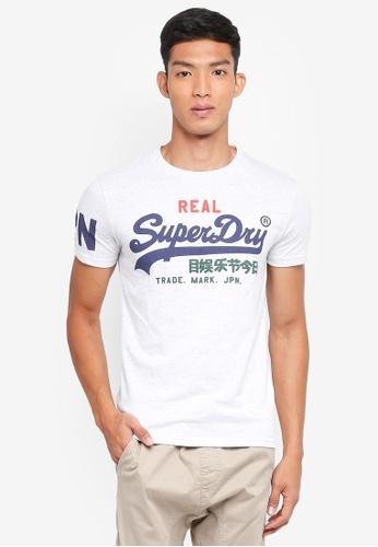 Superdry 灰色 短袖LOGO印花T恤 D9145AA5F542F7GS_1