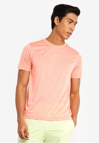 UniqTee orange Quick Dry Slim Crew Neck Tee DE305AA6964016GS_1