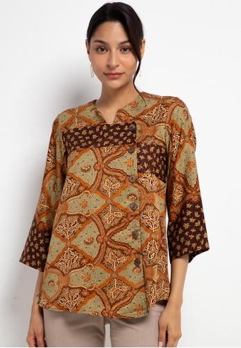 Adikusuma brown Blouse Batik Paku Rambat 0855AAA079F395GS_1
