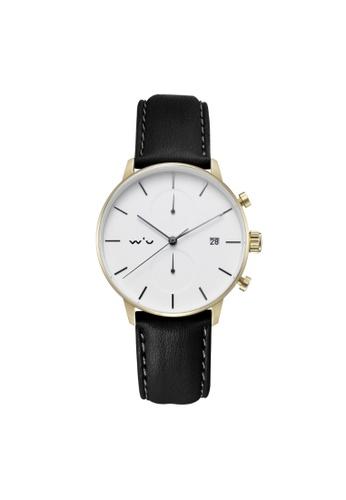 Aries Gold black Aries Gold Venturer L 1034 G-W Leather Watch 3FEA5AC19BA1DBGS_1