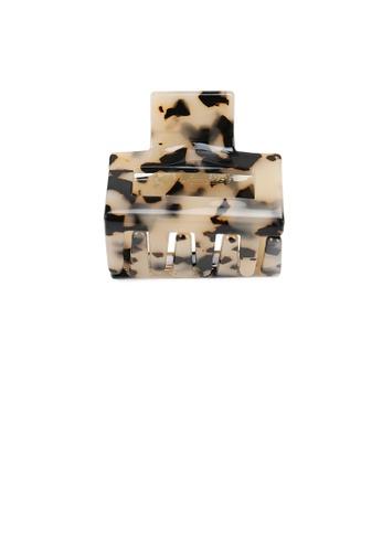Glamorousky silver Simple and Fashion Tortoiseshell Geometric Small Hair Claw 0EF8BACE3E2682GS_1