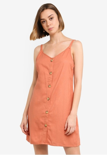 Cotton On orange Woven Margot Slip Dress 7B78EAA43D491FGS_1