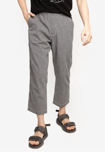 GLOBAL WORK white Checkered Straight Pants 234EAAA2FD5FA4GS_1