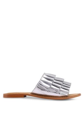 Vero Moda silver Thea Leather Sandals ADE84SH4629543GS_1
