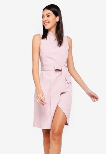 ZALORA pink Notch Neck Dress 275AEAA5FA6358GS_1