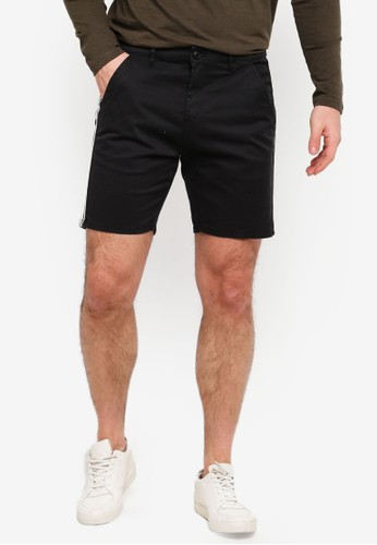 Brave Soul black Retro Twill Cargo Shorts 97A06AA7B651C1GS_1