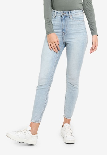 H&M blue Skinny High Jeans 169ABAA54825A0GS_1