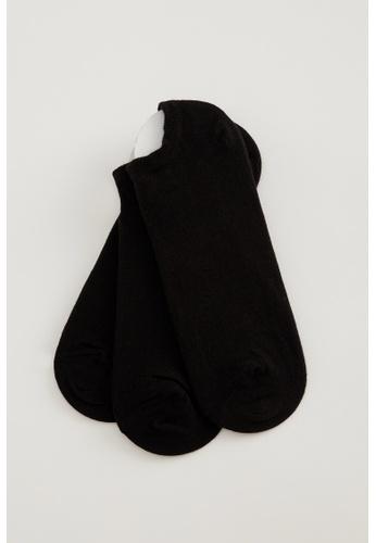 DeFacto black 3-pack Low Cut socks A526FAABFB61BBGS_1