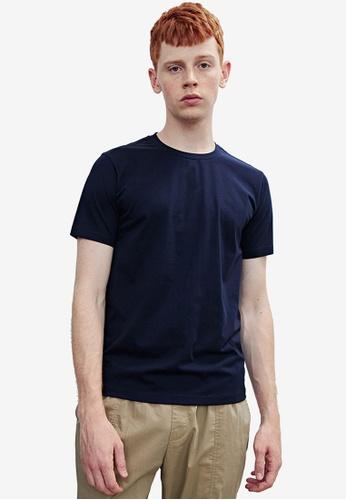 Urban Revivo blue Basic Short Sleeves T-Shirt A0097AA980FAB7GS_1