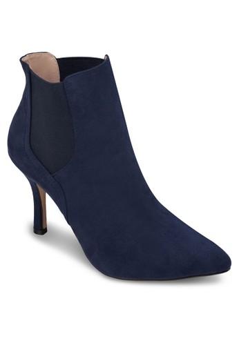 Chelsea 仿麂皮高跟踝靴, 女zalora taiwan 時尚購物網鞋子鞋, 短袖襯衫