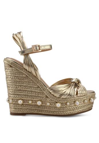 Nose gold Barbette Kntted Espadrilled Wedge Sandals DE962SHE38C873GS_1