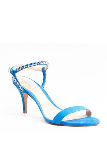 Covet blue Schutz Aurea Ankle Strap Heels CO331SH93GVYPH_1