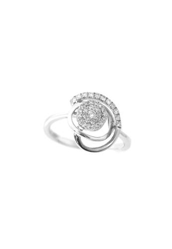 GOLDHEART gold GOLDEHART Ring, Diamond White Gold 750 (PD17145R) A8718AC408EBB7GS_1
