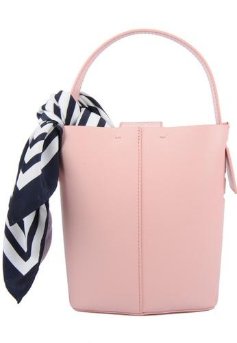 RO Bags pink RO Terranova Felucca Mini Top Handle Bucket Bag in Peach/Pink Sunset 5E0F0AC26B7C32GS_1