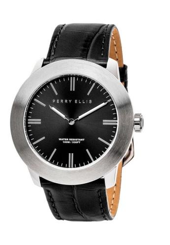 PERRY ELLIS black and silver Perry Ellis Slim Line Men 46mm Quartz Watch 03002-01 A2BF3ACC81FC5FGS_1