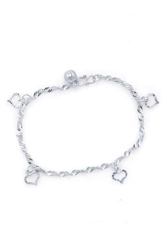 Elfi silver Elfi 925 Genuine Solid Silver Water Wave Love Bracelet SB-2M EL186AC29UHIMY_1