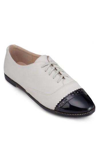 拼色繫帶牛津樂福鞋, 女鞋, zalora 手錶船型鞋