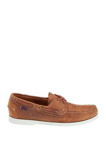 Sebago white Mens Docksides Boat Shoes SE328SH71JUIPH_1