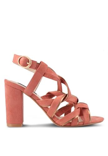 ZALORA pink Twist Strap Heels 01096SH7BA52BEGS_1