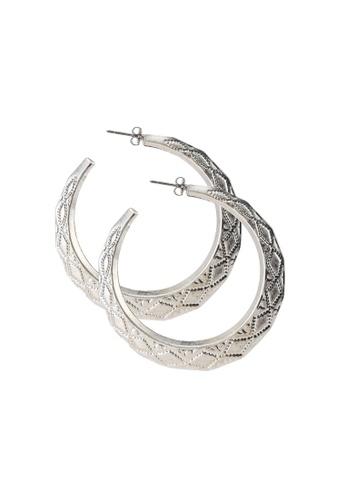 niko and ... grey Metallic Earrings 93E80ACEEF6D18GS_1