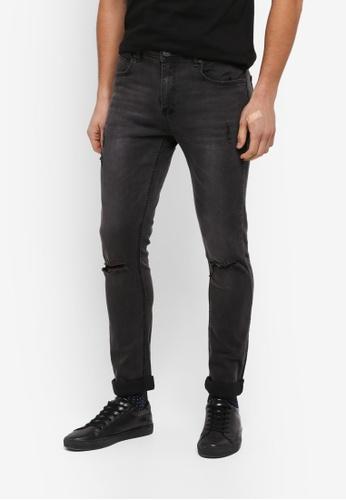 Factorie 黑色 The Bandit Jeans E6B87AA463FF14GS_1