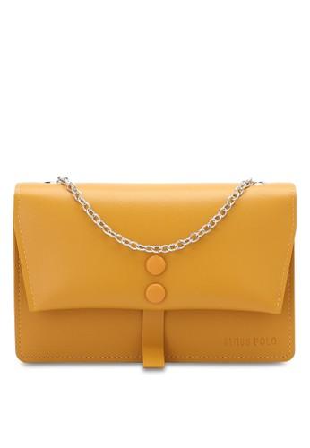 Swiss Polo yellow Ladies Chain Sling Bag 30DC3ACCA910BFGS_1