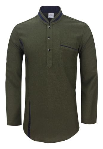 Pacolino green Baju Kurta Muslim For Kids - EK1803 (Green) 984ACKA69EA572GS_1