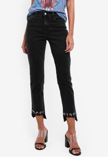 Glamorous black Eyelet Detail Jeans GL059AA0RL3XMY_1
