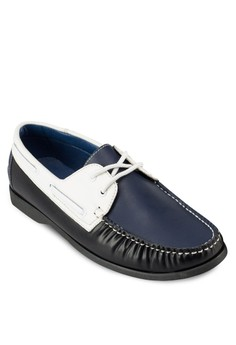 Tri Tone Faux Leather Boat Shoes