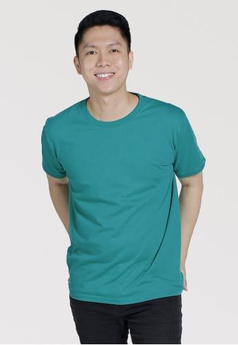 CROWN green Men's Round Neck Tshirt 3782DAA42517F9GS_1