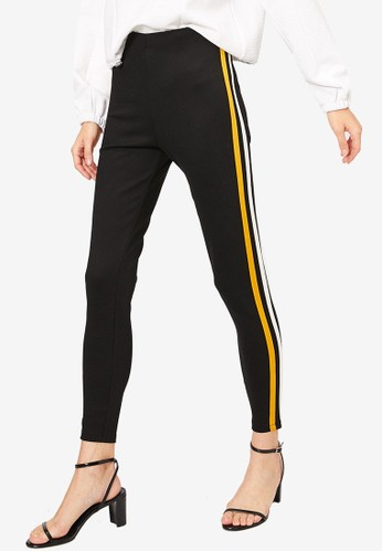 KOTON black Stripe Leggings E77FBAA6AB4A94GS_1