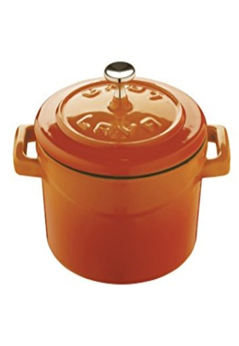 Lava black and grey and orange and yellow Lava Cast Iron Casserole - 10 cm 8A35FHL16B5D83GS_1