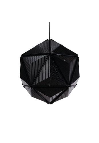 Qualy Qualy Icosa Stripe Pendant Lamp (Black) FA915ES9CC2C3CGS_1