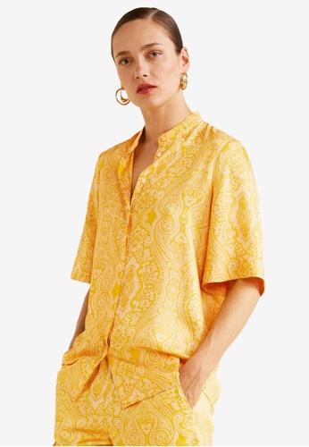 Mango yellow Paisley Print Blouse AE3ECAA30D04C8GS_1