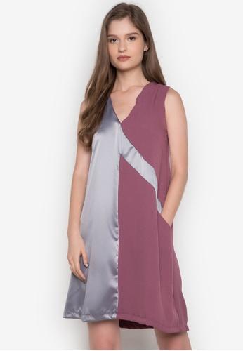 NEW ESSENTIALS purple Dennis Lustico A-Line Dress NE239AA0JD1UPH_1
