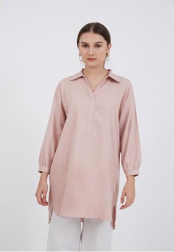 Berrybenka Label pink Sophie Karlena Shirt Dress Dusty Pink D5814AA3AB4339GS_1